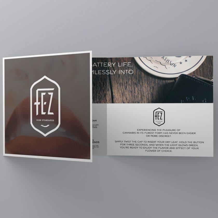 Fez dry herb vaporizer brochure design