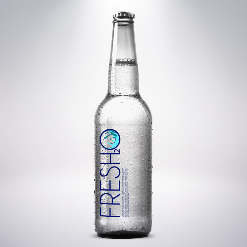 Fresh2O Bottled Water Packaging Mockup