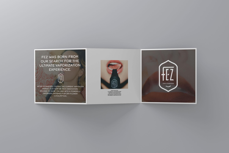 Fez dry herb vaporizer brochure design back
