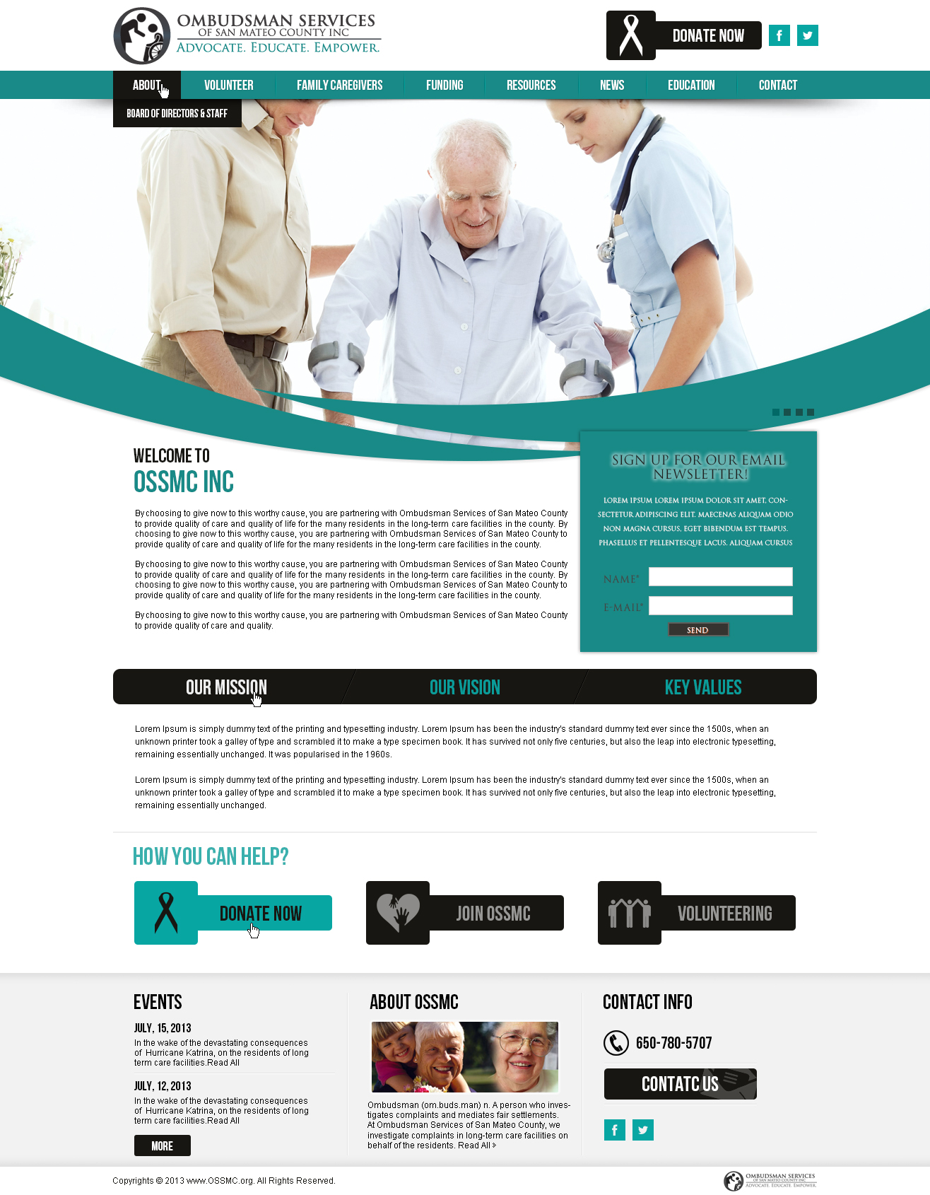 OSSMC Healthcare Website Design