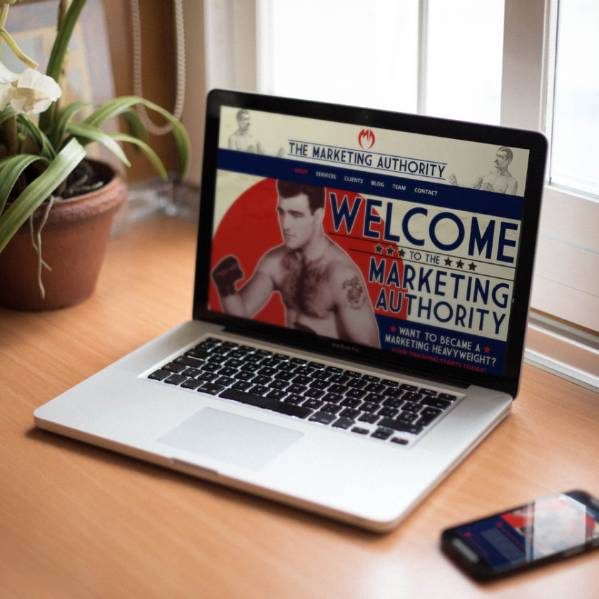 Marketing Authority Website Mockup