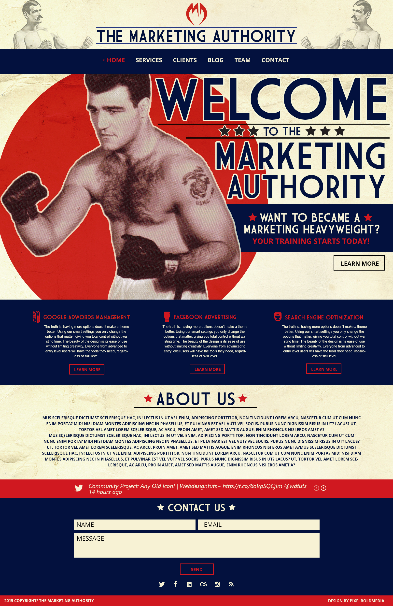Marketing Authority Website