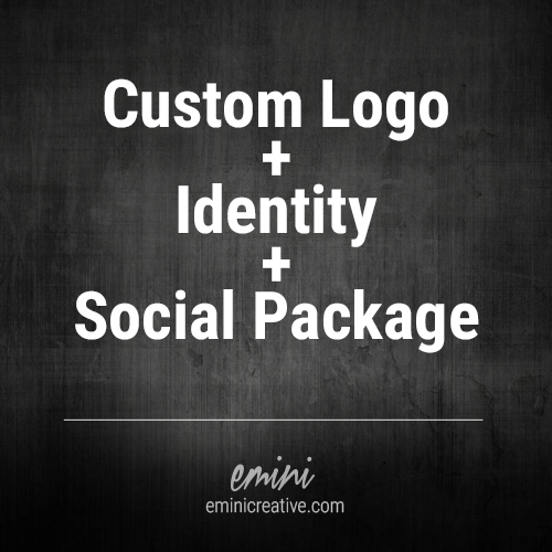 Full business branding package includes custom logo design, visual identity, and social media profile kit