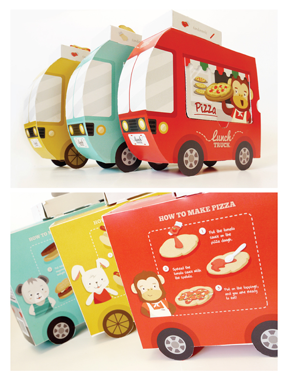 kids lunch truck packaging design