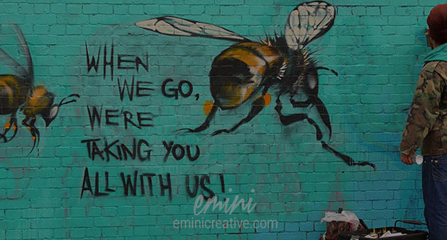 Save the bees street art